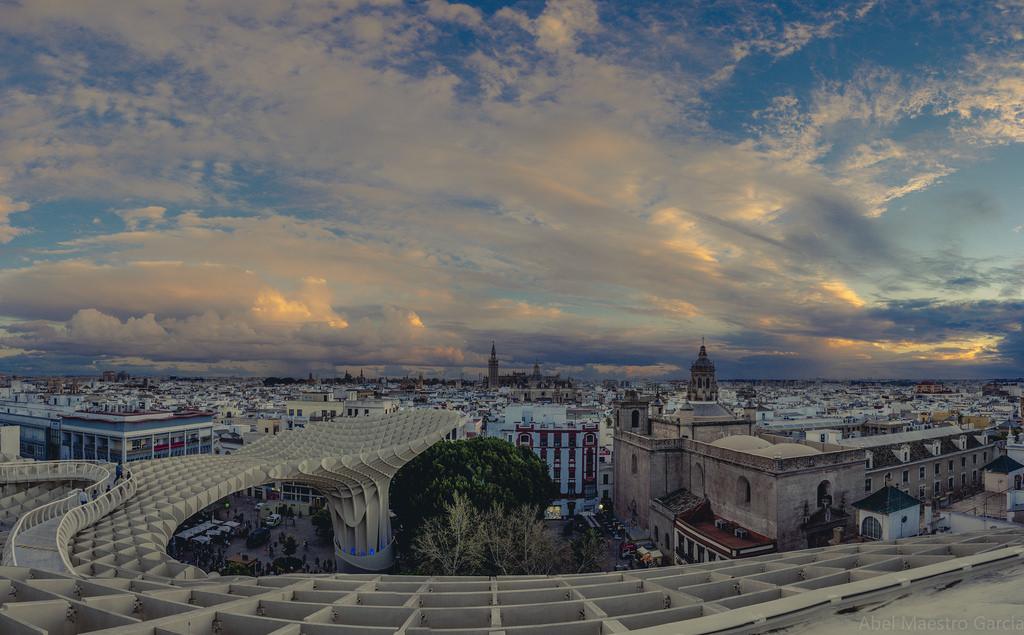 Sevilla vom Metropol Parasol